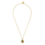 24K GOLD & PAVÉ DIAMOND BEAD ROXANNE NECKLACE