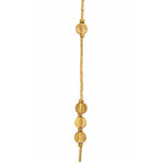 24K GOLD MULTI-ELEMENT BAMBOO WRAP NECKLACE
