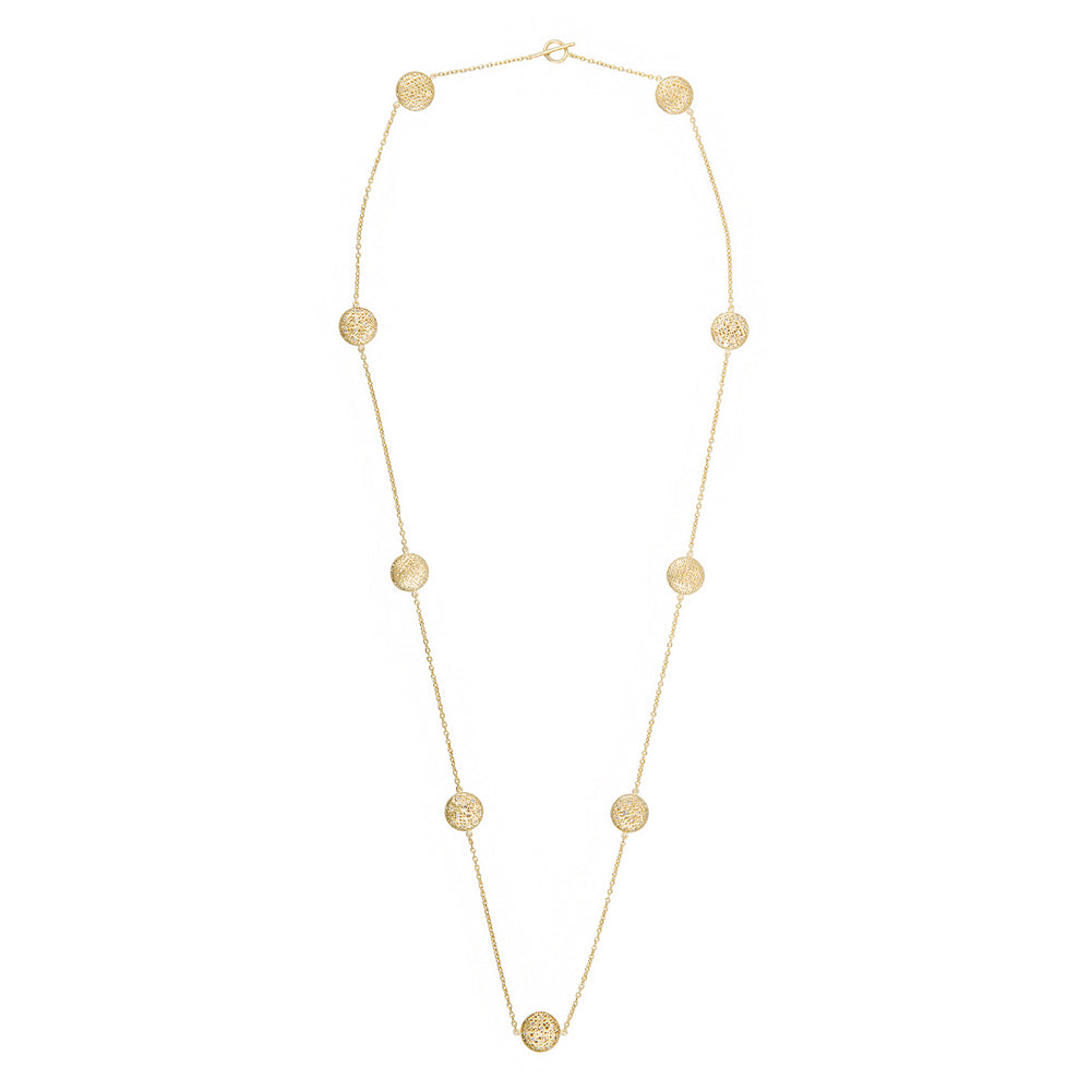 18K GOLD DIAMOND LACE WRAP NECKLACE