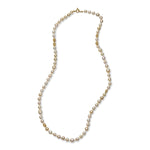 PEARL & LACE BEADS WRAP NECKLACE