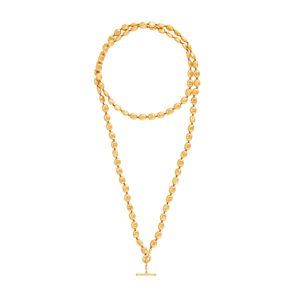 24K GOLD KNOTTED MINI WRAP NECKLACE