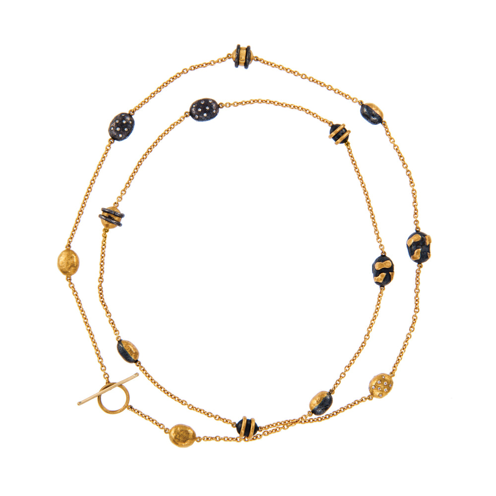 24K GOLD HELEN WRAP NECKLACE