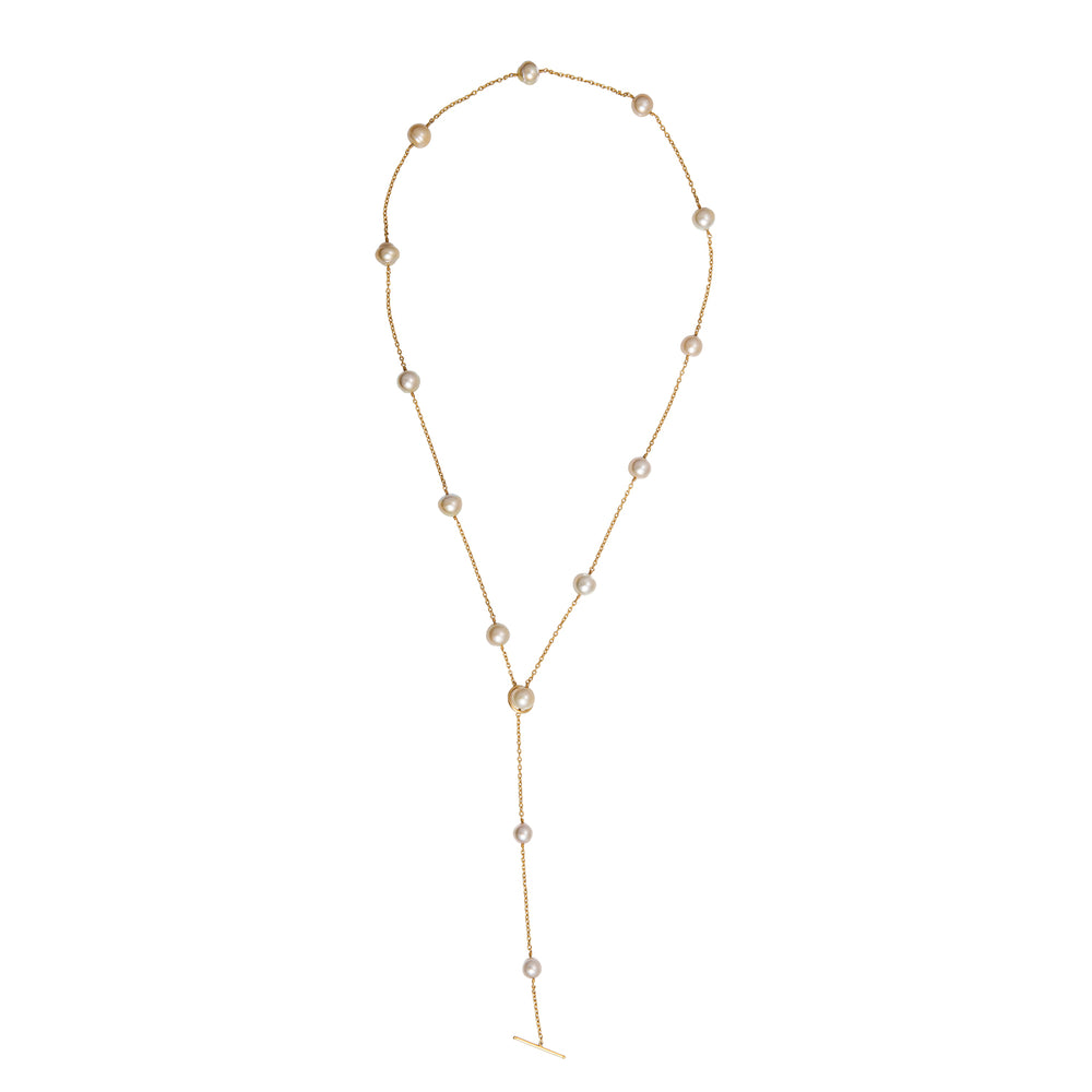 24K GOLD PEARL ROXANNE WRAP NECKLACE