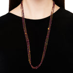 24K GOLD & GARNET MIX JANE WRAP NECKLACE