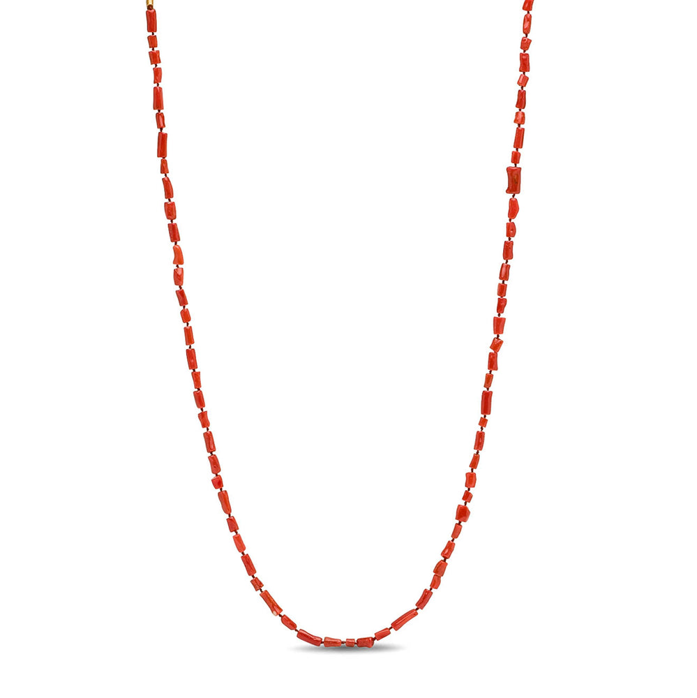 ANTIQUE CORAL WRAP NECKLACE