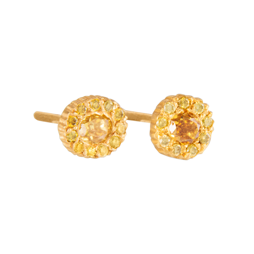 18K GOLD DIAMOND LILAH STUD EARRINGS