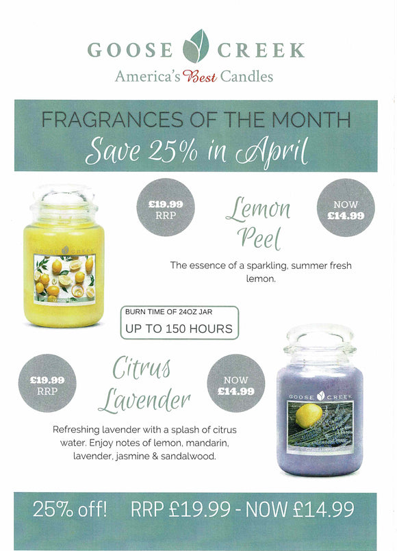 Further Goose Creek Fragrance of The Month