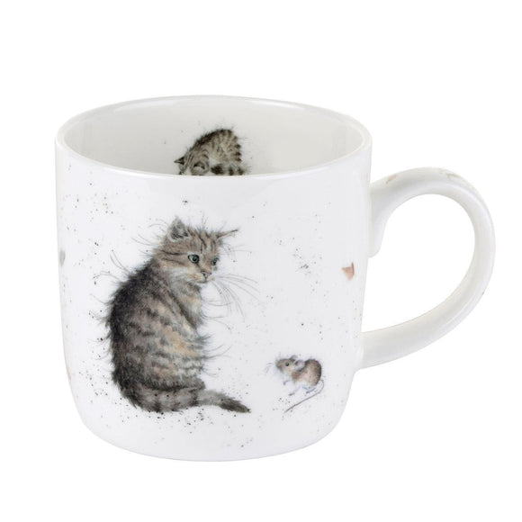 Wrendale Cat & Mouse Design Fine China Mug - Caths Direct