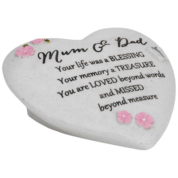 Thoughts of You Graveside Heart Mum & Dad - Caths Direct