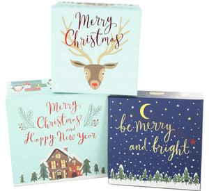 Set of 3 Christmas Boxes - Caths Direct