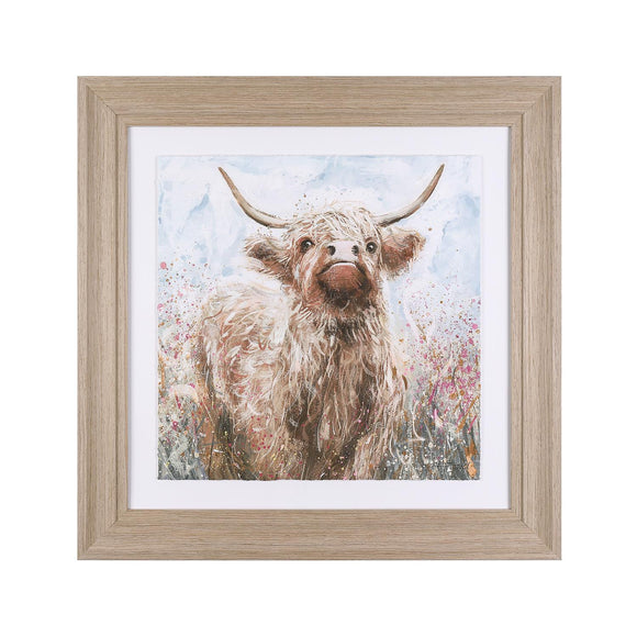 Hazel the Highland Cow Framed & Glazed Picture - Caths Direct
