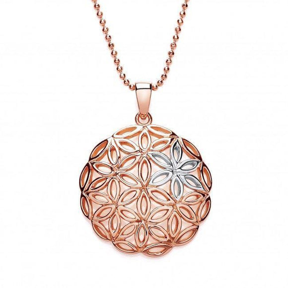Purity Circle Flower Pendant - Caths Direct