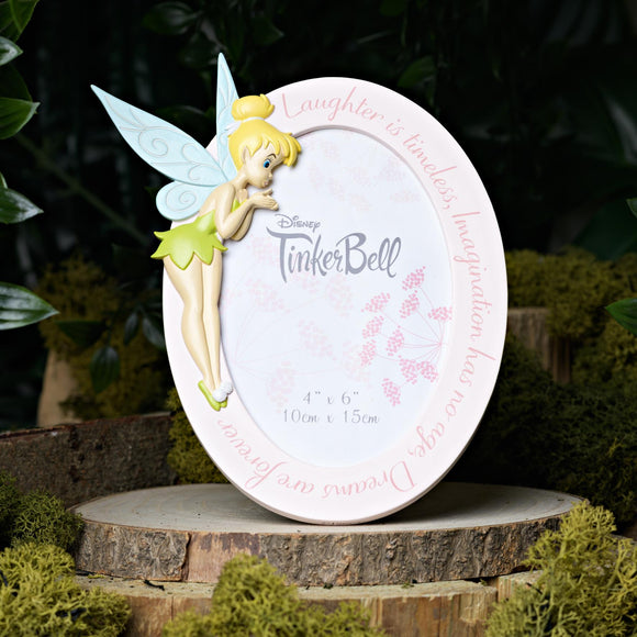 Disney Tinkerbell Oval Photo Frame 4 x 6 - Caths Direct