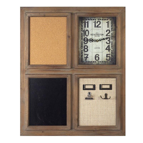 Wall Clock Memo Board - Caths Direct