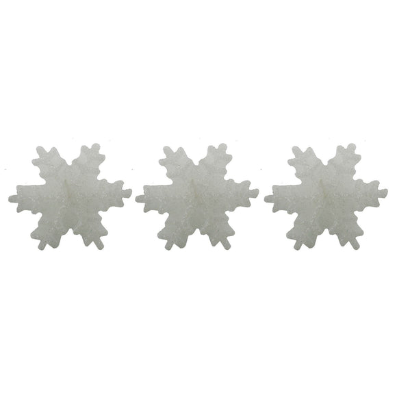 3 Snowflake Candles