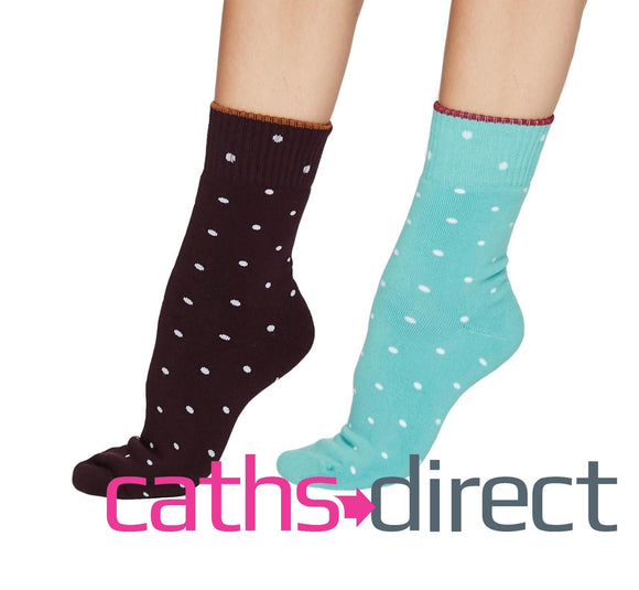 Ladies Soft Walker Organic Cotton Spot Walker Socks Size 4-7 by Thought - Caths Direct