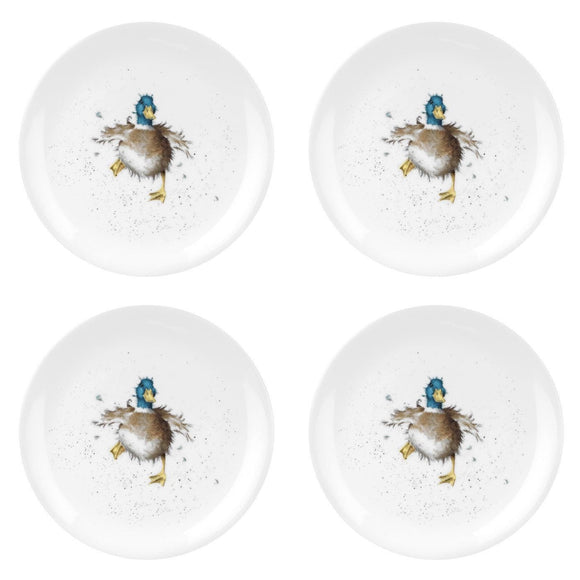 Wrendale by Royal Worcester Set of 4 Plates Duck Design - Caths Direct