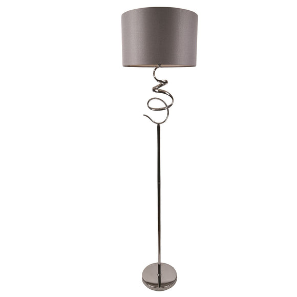 Spiral Tall Floor Lamp Grey Shade