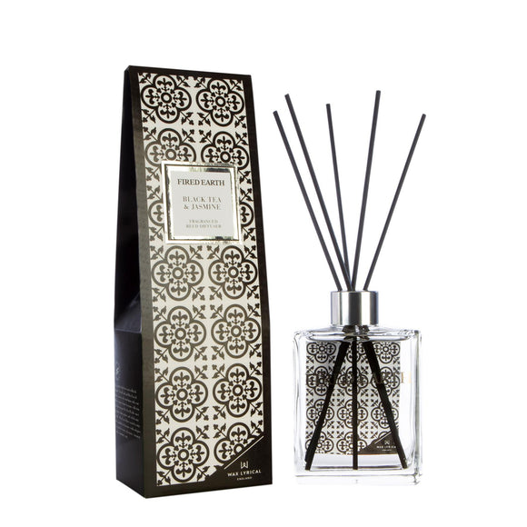 Fired Earth Black Tea & Jasmine New 180ml Reed Diffuser - Caths Direct