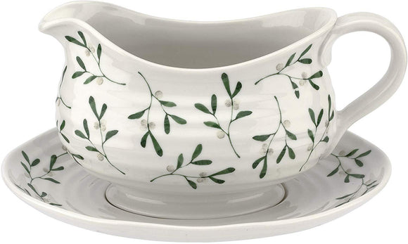 Sophie Conran Mistletoe Design Large Sauce Boat & Stand - Caths Direct