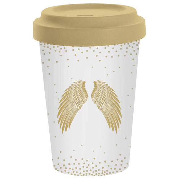 Holy Wings Design Eco-Friendly Bamboo Travel Mug by PPD - Caths Direct
