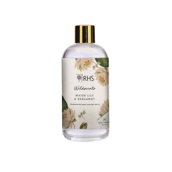 Wax Lyrical RHS Wildscents Water Lily & Bergamot Diffuser Refill 200ml - Caths Direct