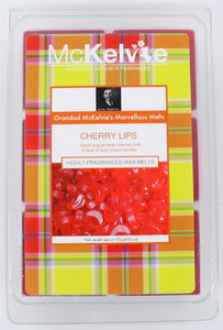 McKelvie Candles Cherry Lips Pack of 6 Wax Melts