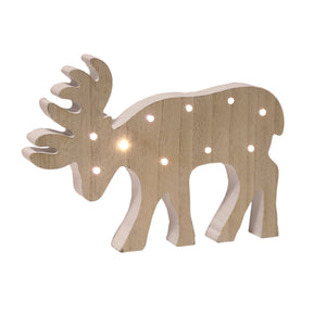LED Wooden Reindeer - Caths Direct