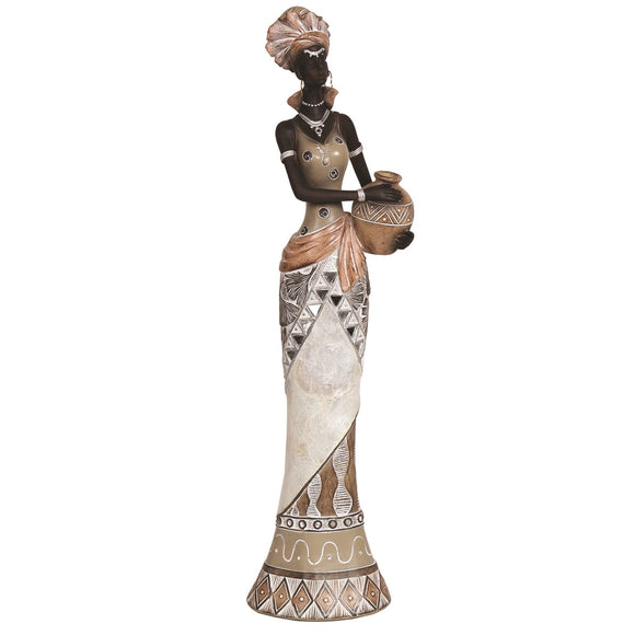 African Lady Tall Figurine 45cm - Caths Direct
