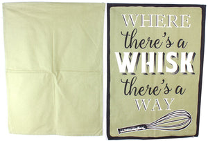Set of 2 Tea Towels Where theres a whisk theres a way - Caths Direct