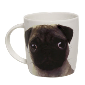 White Pug Dog Mug - Caths Direct