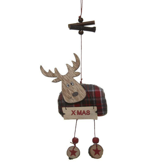Hanging Tartan Moose - Caths Direct