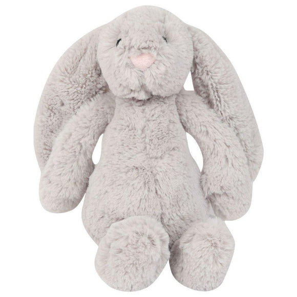 Bambino Grey Plush Rabbit Soft Toy - Caths Direct