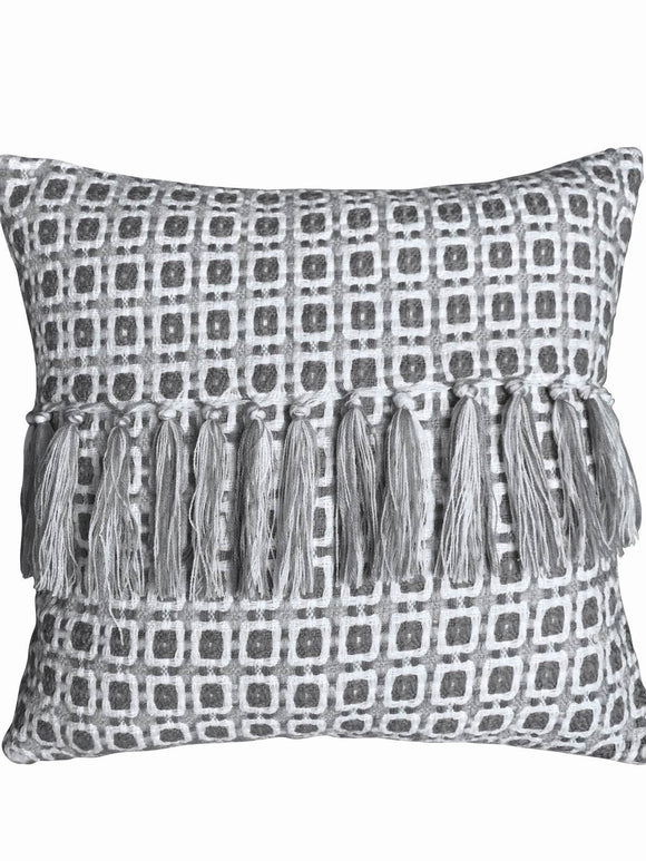 Al Anni Squared Grey Cushion 45Cm - Caths Direct