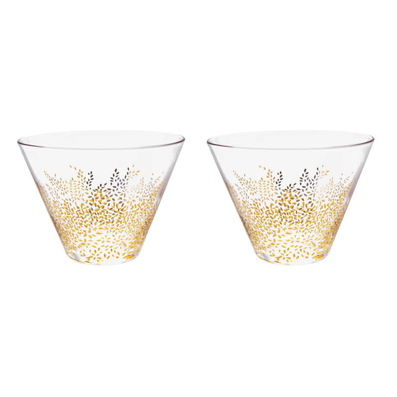 Sara Miller Chelsea Collection Glass Bowls Set of 2 - Caths Direct