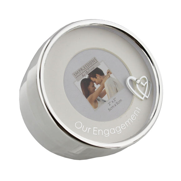 Silver Plated Photo Trinket Box Engagement - Caths Direct
