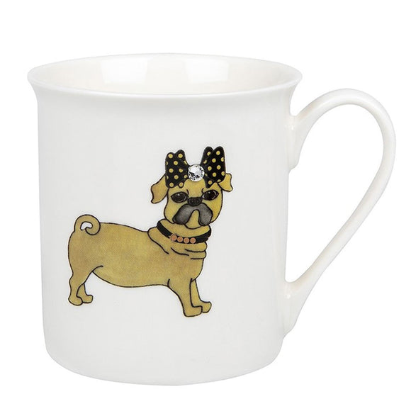 Pug Dog Design Fine China Gift Mug - Caths Direct