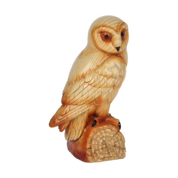 Naturecraft Wood Effect Owl Figurine - Caths Direct