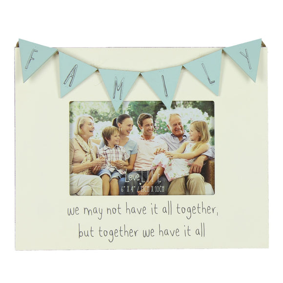 Love Life Bunting Design Photo Frame Family