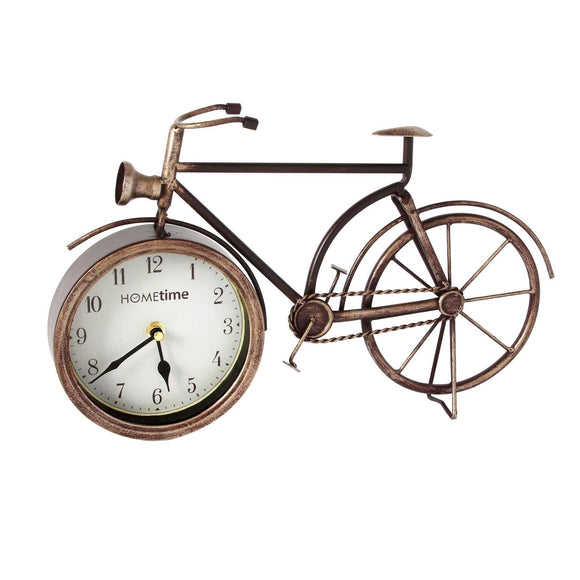 Metal Mantel Clock Bicycle Design