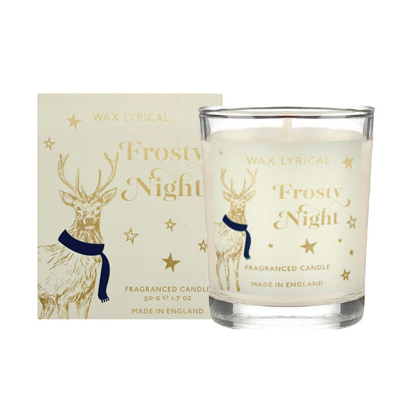 Wax Lyrical Boxed Glass Votive Candle Frosty Night - Caths Direct
