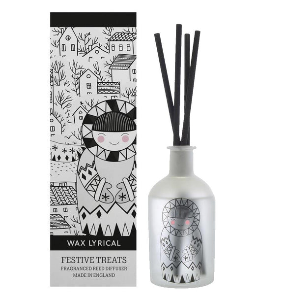 Wax Lyrical Festive Treats Fragranced Reed Diffuser 180ml - Caths Direct
