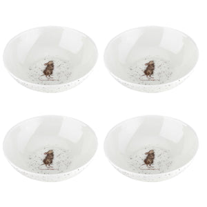 "Wrendale Designs Mouse 6"" Bowls Set of 4 - Caths Direct"