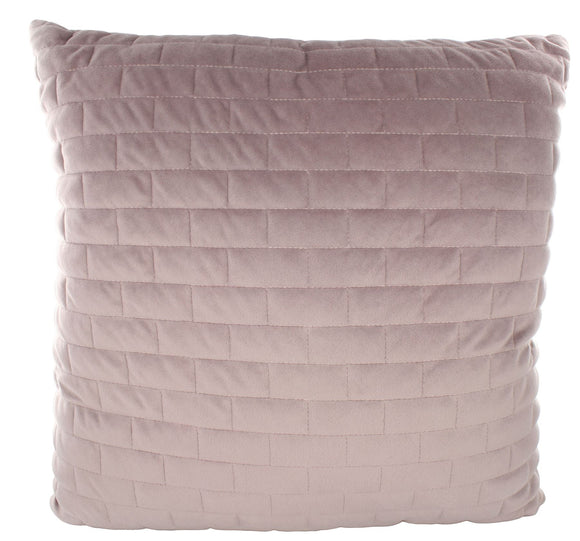 43 x 43 Quilted Cushion Pink Rectangle - Caths Direct
