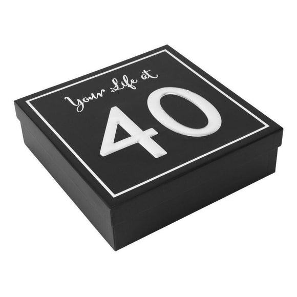Your Life at 40 Keepsake Box - Caths Direct