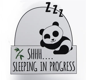 Panda Plaque 'Shhh Sleeping In Progress' - Caths Direct