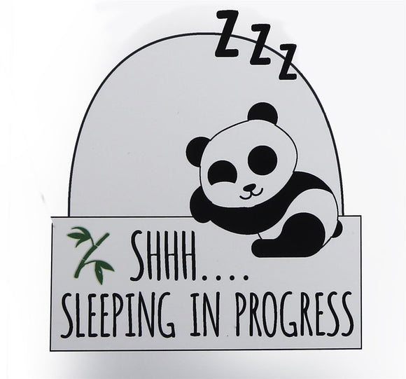 Panda Plaque 'Shhh Sleeping In Progress'