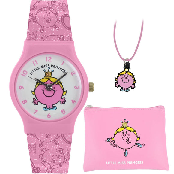 Mr Men Little Miss Princess Watch, Purse and Pendant Set - Caths Direct