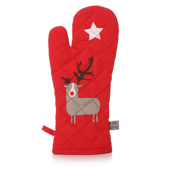 Red Christmas Oven Glove