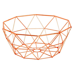 Copper Geometric Fruit Basket - Caths Direct
